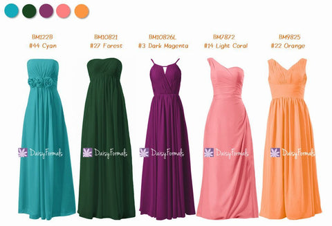 Bright Maids Dress Fall & Summer Wedding Party Dress - Bright Maids & Rainbow Looks (MM172)