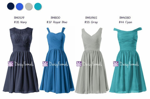 Teal & Blue Wedding Dresses Mixed Matched Dresses - Garden Blooms (MM77)