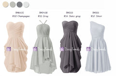 Lovely Mix & Match Bridesmaids Dress - Shades of Grey & Champagne (MM78)
