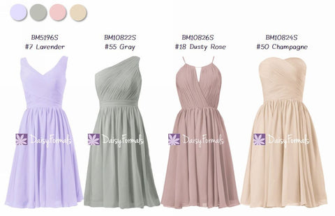 Versatile Silhouette Mismatched Party Dresses - Tonal Spectrum (MM79)