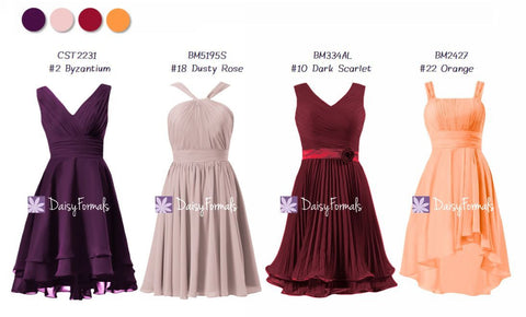 Short Lovely Mix & Match Dresses - Artistic Mixed Berries (MM80)