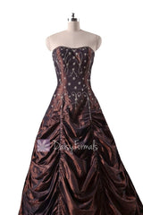 Long dark currant stunning princess prom special occasion dresses (pr0041)