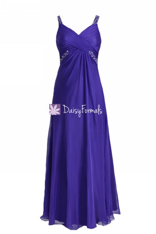 Sexy mystery purple prom dress long majorelle blue cutout party dress (pr28191)