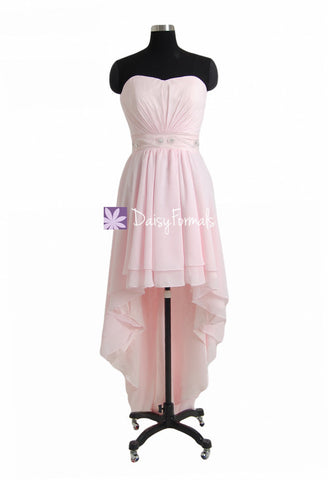 High-Low Fancy Dress Stylish Party Dress Ice Pink Cocktail Dress Prom Dress Evening Dress (PR28258)