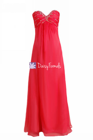 Sophisticated Red Party Dress Long Red Evening Dress for Special Occasions (PR29040)
