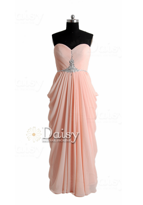 Sweetheart long apricot prom dress beaded a-line chiffon formal evening dress(pr72168)