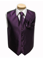 Wedding accessories, neck tie for groom, best men's vest with matching necktie and pocket square set