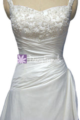 Graceful a line wedding party dress full length formal bridal gowns w/richful beading, straps (wd58135)