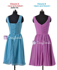 Elegance tiffany blue bridesmaid dress v neckline affordable bridesmaid dresses (bm5196s)