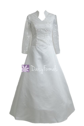 Long Sleeves Wedding Dresses Long Sleeves Lace Wedding Dresses (GSM013)