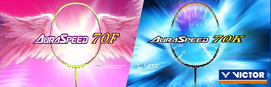 Victor Auraspeed 70K and 70F Badminton Rackets - Yumo Pro Shop - Racquet Sports online store