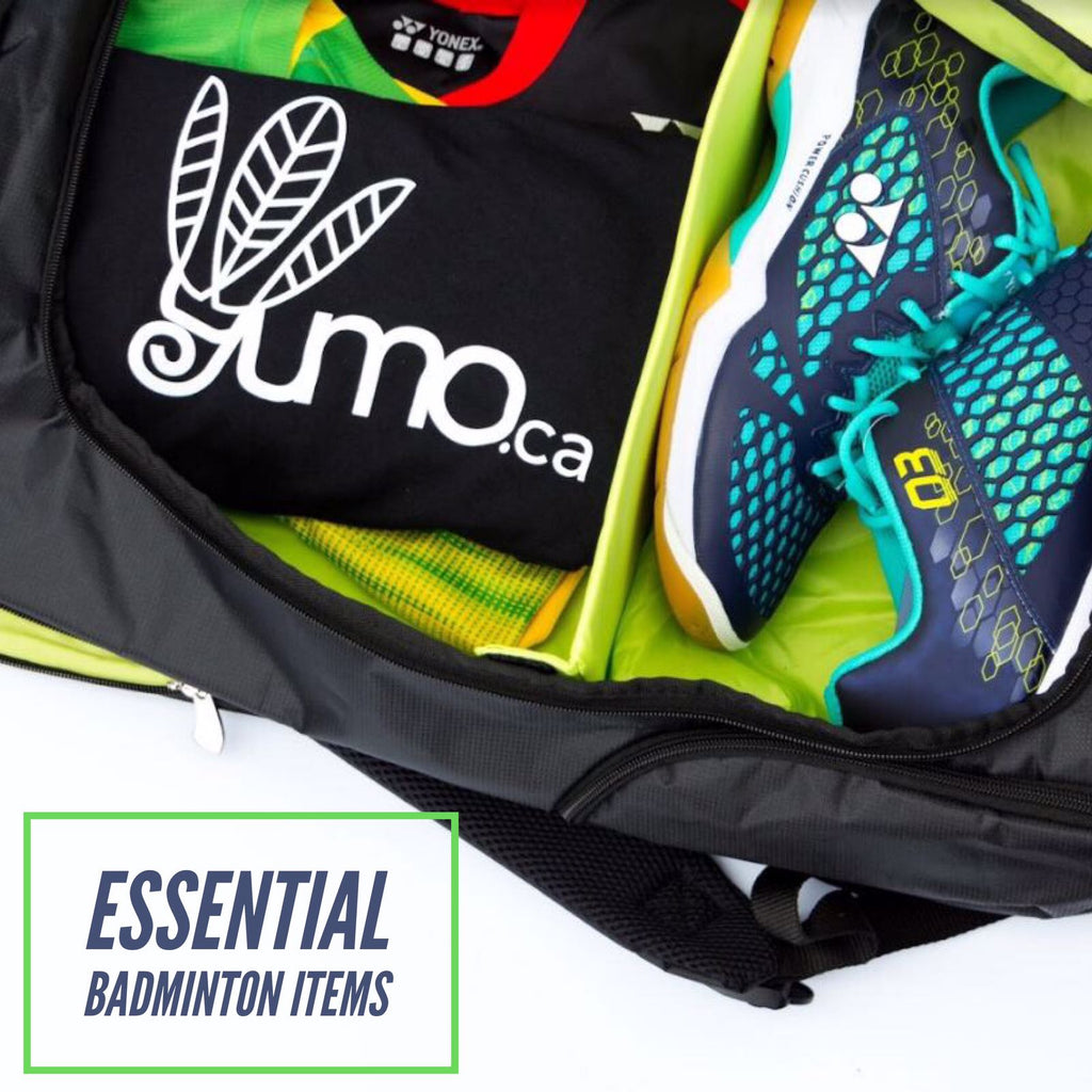 Essential Items to Keep in Your Badminton Bag - Yumo Pro Shop - Racquet Sports online store
