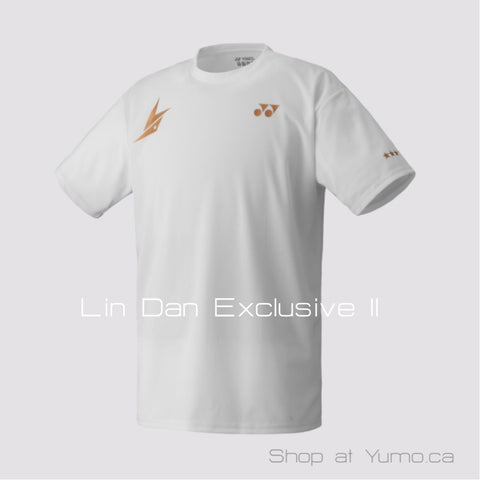 Lin Dan Exclusive II Yonex 16004LDEX  White Crew Neck Shirt