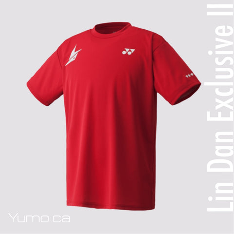 Lin Dan Exclusive II Yonex 16004LDEX  Red Crew Neck Shirt