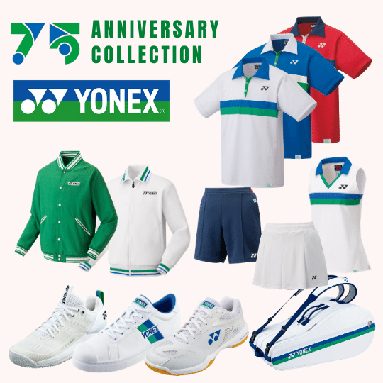 Yonex 75th Anniversary Collection - Shirts clothing ladies men jacket track suit 65z2 off court shoes tennis badminton bag - yumo.ca