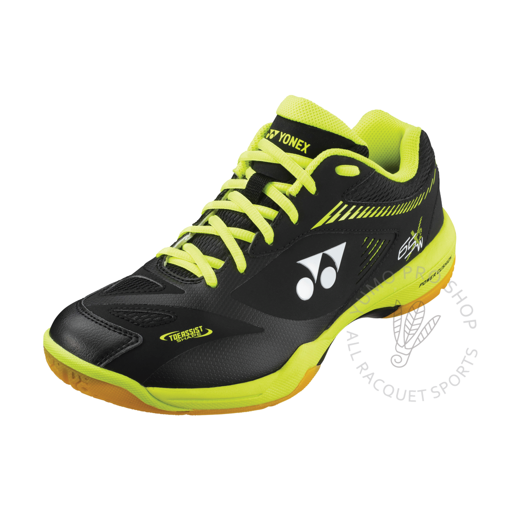 2020 Yonex Power Cushion SHB65X2 Wide Court Shoes [Black/Acid Yellow] 2021Yonex - Yumo Pro Shop - Racquet Sports online store