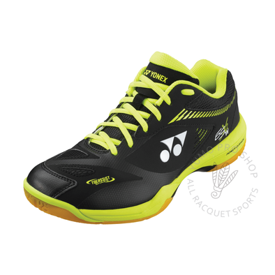 2020 Yonex Power Cushion SHB65X2 Wide Court Shoes [Black/Acid Yellow]