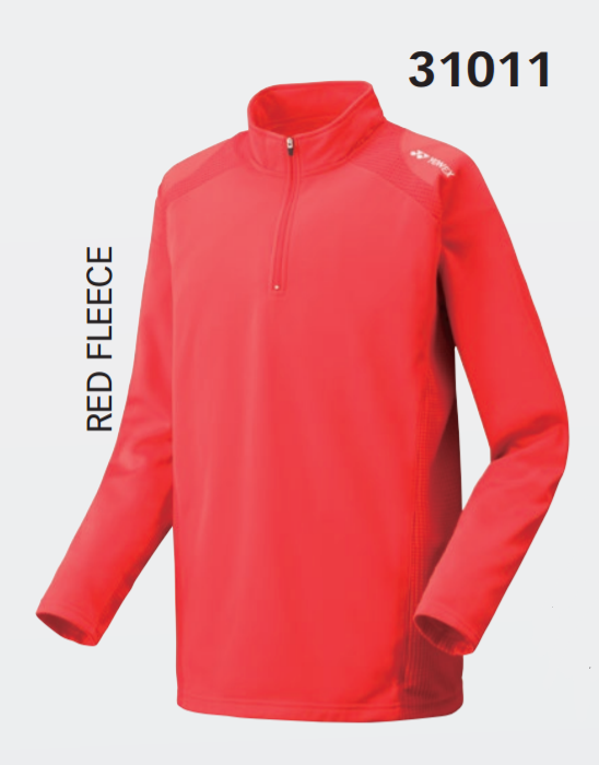 Yonex 31011EX Unisex Red Fleece Warm Up Shirt - Yumo Pro Shop - Racket Sports online store