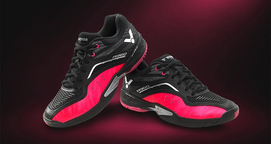 Victor A960 CQ Court Shoes [Black/Pink] ShoesVictor - Yumo Pro Shop - Racquet Sports online store