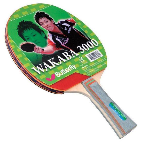 Butterfly Wakaba 3000 Shakehand Racket - Yumo Pro Shop - Racket Sports online store
