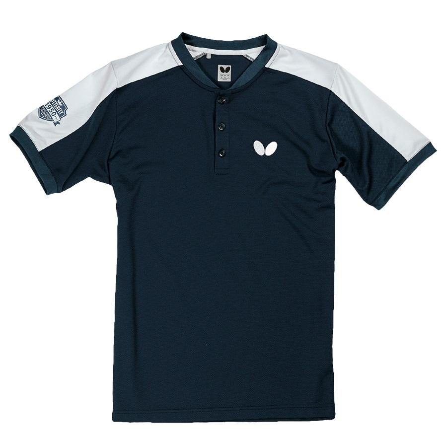 Butterfly Takeo Shirt [Navy] ClothingButterfly - Yumo Pro Shop - Racquet Sports online store