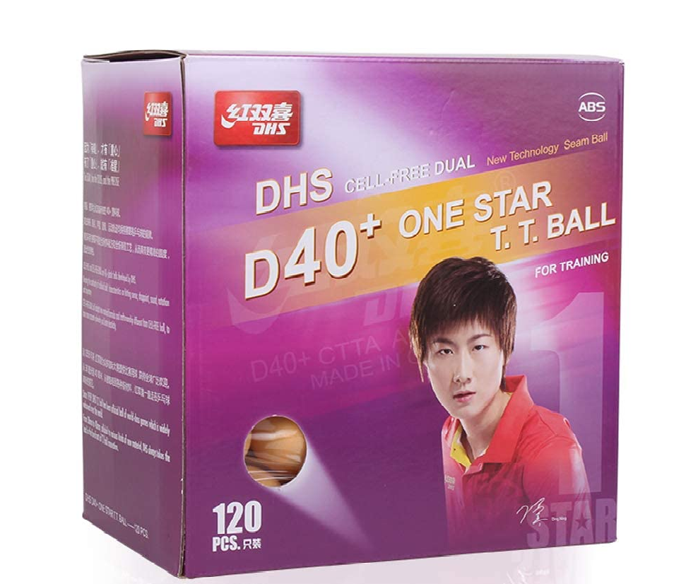 DHS D40+ 1 star ball - 120pc [orange] AccessoriesDHS - Yumo Pro Shop - Racquet Sports online store