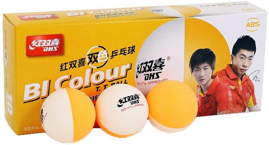DHS D40+ Bi-Color Ball Table Tennis BallsDHS - Yumo Pro Shop - Racquet Sports online store