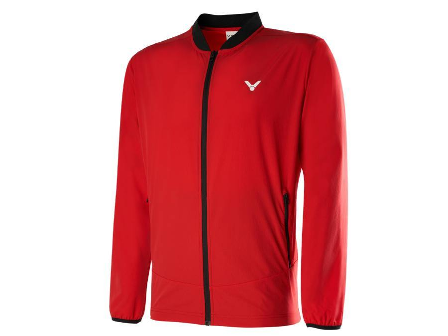 Victor J-00607D Track Jacket [Red] ClothingVictor - Yumo Pro Shop - Racquet Sports online store