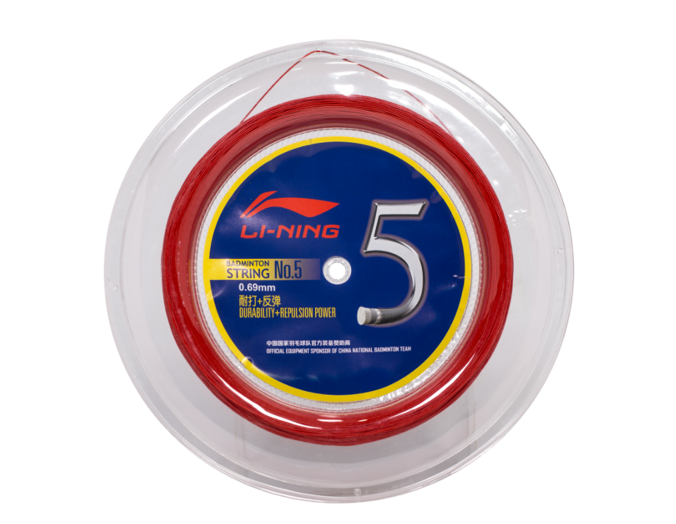 Li Ning Badminton String No. 5 Reel [RED] AXJJ068-4 stringli ning - Yumo Pro Shop - Racquet Sports online store
