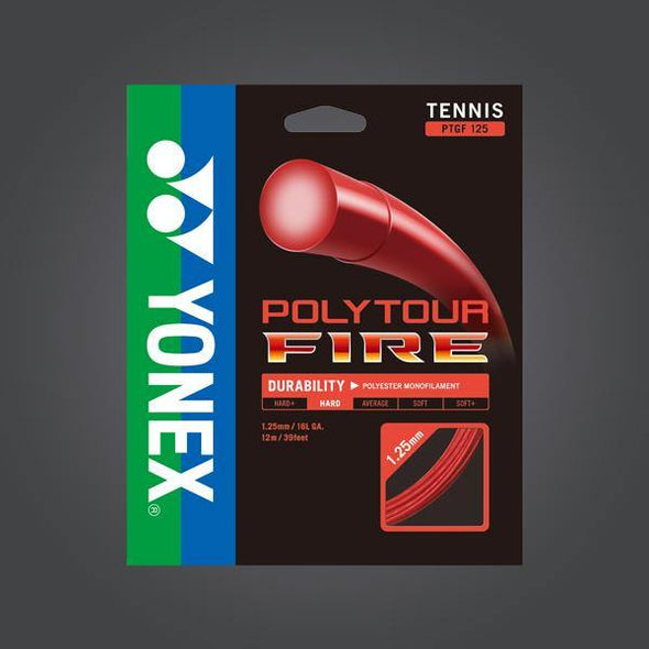 Yonex Polytour Fire 125 16L Red Tennis Strings
