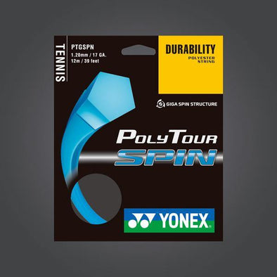 Yonex Polytour Spin 120 17G Tennis Strings Durable