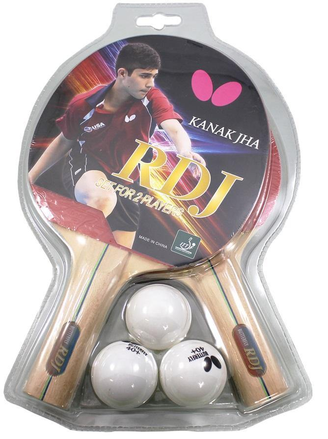 Butterfly Shakehand RDJ 2 Player Racket Set Table Tennis RacquetButterfly - Yumo Pro Shop - Racquet Sports online store