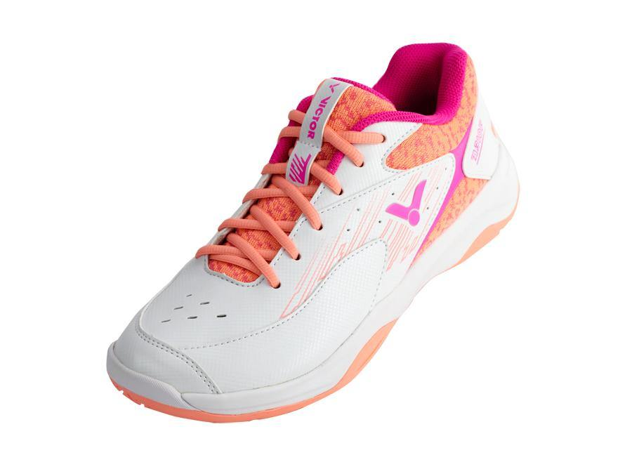 2020 Victor A310F Badminton Court Shoes [White/Coral Red] ShoesVictor - Yumo Pro Shop - Racquet Sports online store