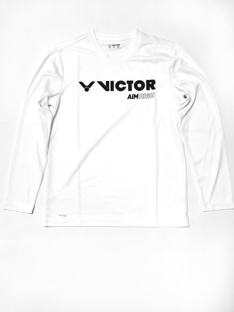 Victor T-85100 A Unisex Long T-Shirt [White] ClothingVictor - Yumo Pro Shop - Racquet Sports online store