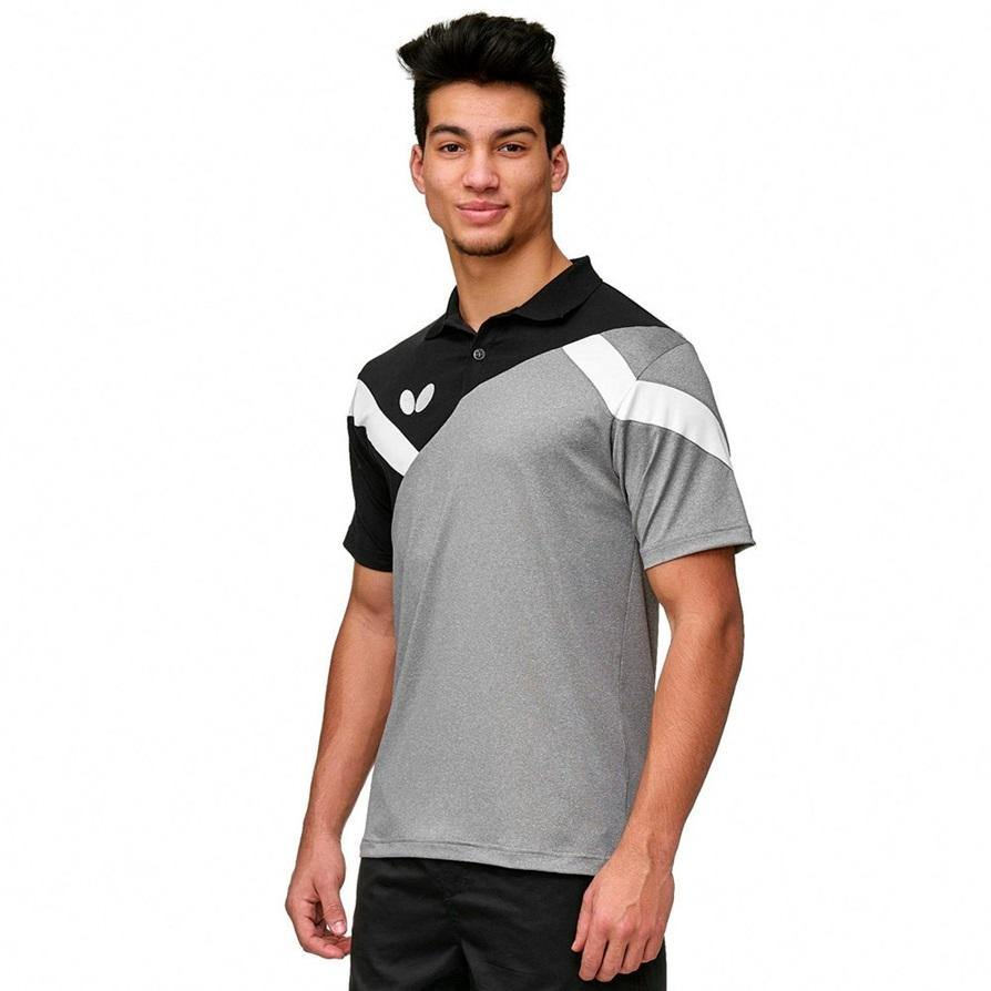 Butterfly Yao Shirt [Black] ClothingButterfly - Yumo Pro Shop - Racquet Sports online store