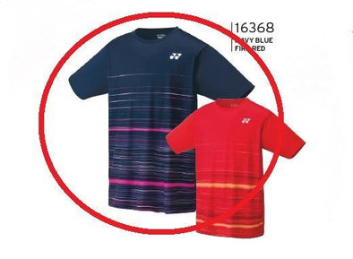 Yonex 16368EX Men's Game Shirt [Navy Blue]