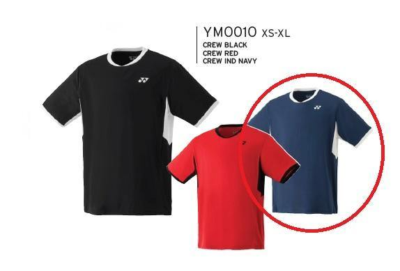 Yonex YM0010EX Men's Team Crew Shirt [Navy] ClothingYonex - Yumo Pro Shop - Racquet Sports online store