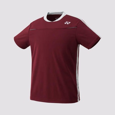 Yumo Pro Shop - Badminton Store Online - Yonex - 10178EX Men's Crew Neck Game Shirt - Maroon
