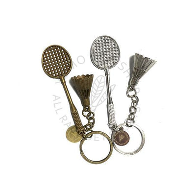 Racket and Shuttle Keychain