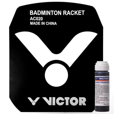 Yumo Pro Shop Victor Badminton Racket Stencil Ink Black