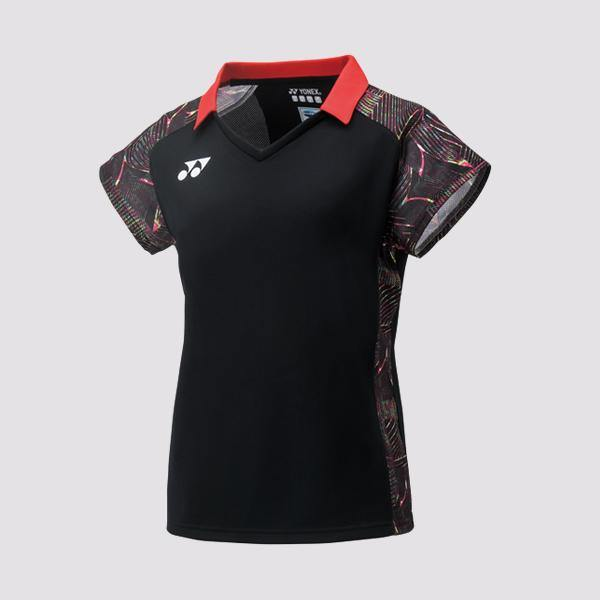 Yumo Pro Shop - Badminton Store Online - Yonex - 20411EX Women's Ladies Cap Sleeve Polo Top Game Shirt - Black