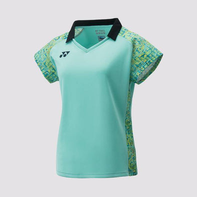 Yumo Pro Shop - Badminton Store Online - Yonex - 20411EX Women's Ladies Cap Sleeve Polo Top Game Shirt - Mint