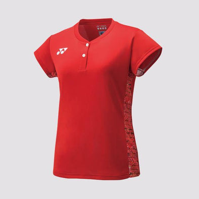 Yumo Pro Shop - Badminton Store Online - Yonex - 20412EX Women's Ladies Cap Sleeve Top Game Shirt - Red
