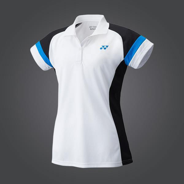 Yumo Pro Shop - Badminton Store Online - Yonex - YW0002EX Women's Ladies Polo Team Game Shirt - White