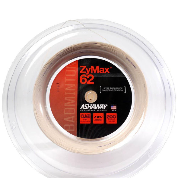 ASHAWAY ZYMAX 62 - White (200m Reel) - Yumo Pro Shop - Racket Sports online store
