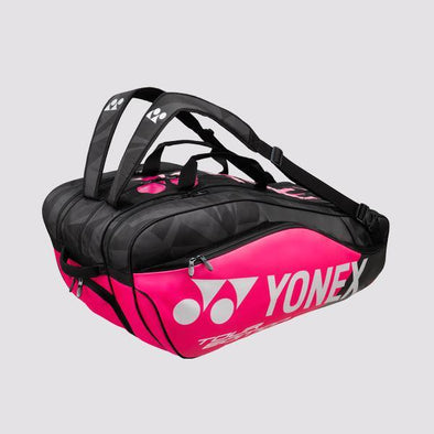 Yonex Yumo Pro Shop Pro Series Racquet Bag Tournament 9 Pieces Racket Bag Pink Black