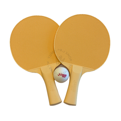 DHS All Weather Shakehand (FL) Racket Set of 2