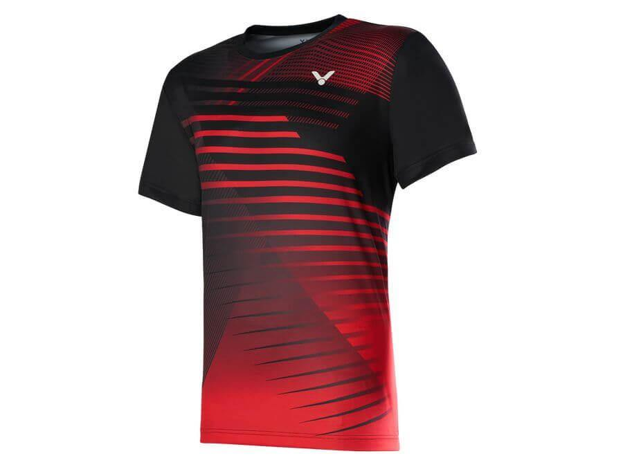Victor T-00001TD C MALAYSIAN NATIONAL TEAM SHIRT [Black/Red] 2020Victor - Yumo Pro Shop - Racquet Sports online store