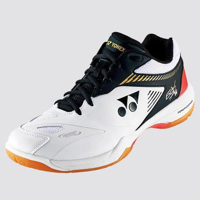 Yonex Power Cushion 65 X 2 Wide Court Shoes [White/Black]