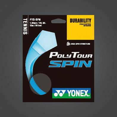 Yonex Polytour Spin 16L 1.25mm Tennis Strings Durable